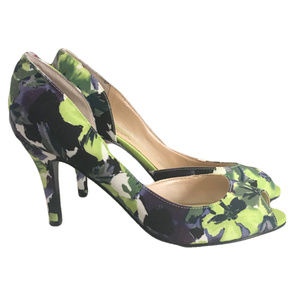 3/$30 MARC FISHER Joey2 Floral D'Orsay Peep Toe